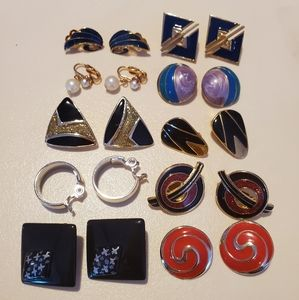 10 Sets of Clip-On Earrings